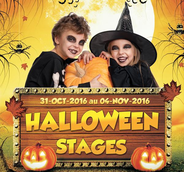 Stage d'halloween enfants
